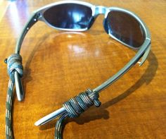 """http://www.paracordist.com Field expedient #paracord sunglasses """"croakies"""" Here is my whipping #DIY #howto video http://www.youtube.com/watch?v=8B_Ir8sQ12w=youtube_gdata_player"""