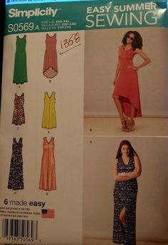 Simplicity Pattern S0569 / 1358 Misses' Knit Dresses sizes 4-26 FREE SHIPPING #Simplicity