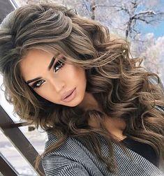 40 Perfect Wedding Hairstyles Ideas For Long Hair - Style - frisuren haare hair hair long hair short Wedding Hair And Makeup, Hair Makeup, Wedding Hair Styles, Wedding Nails, Hair Styles Party, Eye Makeup, Makeup Brushes, Wedding Dresses, Trendy Hairstyles