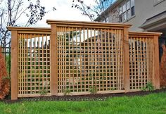 backyard privacy walls - A Modern Privacy Screen Design Privacy Landscaping, Backyard Privacy, Pergola Patio, Modern Landscaping, Pergola Kits, Pergola Ideas, Fence Ideas, Landscaping Ideas, Inexpensive Landscaping