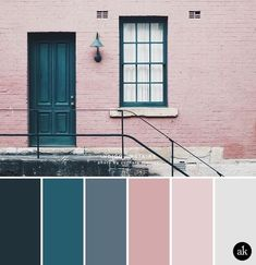 a color palette inspired by indigo doors (Akula Kreative), . - a color palette inspired by indigo doors (Akula Kreative), - Kitchen Colour Schemes, Kitchen Wall Colors, Pink Color Schemes, Interior Design Color Schemes, Color Interior, Gray Bedroom Color Schemes, Bedroom Color Palettes, Grey Living Room Ideas Colour Palettes, Kitchen Ideas Color
