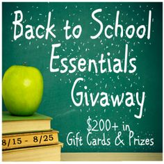Back to School Essentials Prize Pack Giveaway $200 + Value!