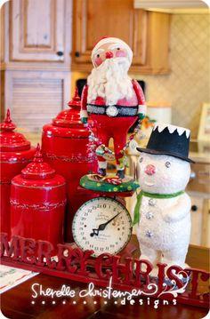 Cute Santa & snowman!