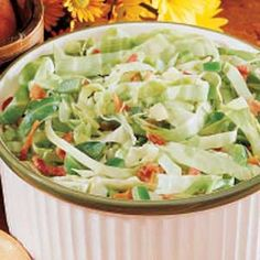 Favorite Cabbage Salad Recipe from Taste of Home.     Five stars!
