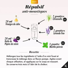 I make my mosquito repellent - DIY ultra simple and effective: create your natural mosquito repellent oil that smells of lemo - Beauty Care, Diy Beauty, Homemade Body Care, Wie Macht Man, Handmade Cosmetics, Diy Cleaning Products, Cleaning Tips, Green Life, Diy Mask