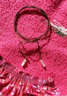 DIY Suede Wrap Choker Necklace With Rose Quartz Crystal Pendant Embellishments, Music Festival Fashion, Summer Trends 2016