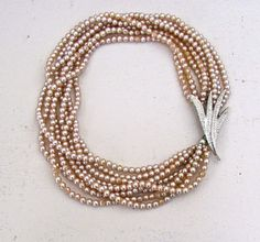 Vintage 40's Multi Strand Glass Pearl by BellaLaineVintage on Etsy