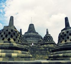#temple #borobudur #indonesian #indonesia #beautiful #bluesky