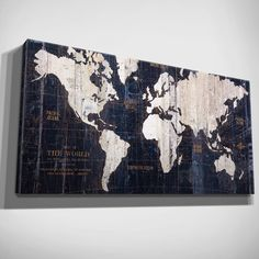 All the details youll need to plan your own travel themed baby wexford home hand embellished old world map blue canvas art 16x32 size medium gumiabroncs Gallery