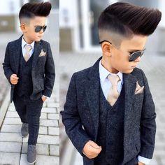 Classy Baby Boy Swag, Baby Boy Dress, Baby Boy Outfits, Baby Boys, Toddler Boy Fashion, Little Boy Fashion, Baby Boy Haircuts, Baby Boy Hairstyles, Boys Tuxedo