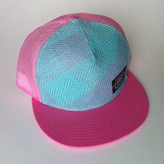 221f4a405e6 Pink + Blue Trucker Hat  44 Azul Rosado