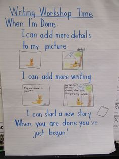 KC Kindergarten Times. When they are done with their writing, chart.