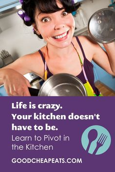 Life can feel crazy, but your kitchen doesn't have to. Learn to pivot in the kitchen and take back some peace of mind. And good meals, too. The Day Today, Recipe Please, Crazy Life, Good And Cheap, Kitchen Hacks, Freezer Meals, Peace Of Mind, Kitchen Organization, Homemaking