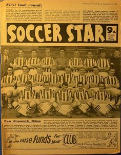 West Bromwich, Soccer Stars, Vintage Football, Team Player, Magazines, Journals