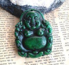 Chinese Jade Happy Lucky Dragon Phoenix Amulet Pendant Talisman