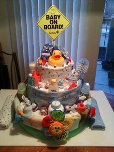 A Diaper Cake for a boy~
