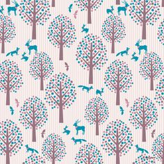 'meeting in forest'| Pattern design by anyan