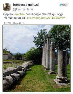 Sepino, #molise con il grigio che c'è qui oggi mi manca un po' @FranzaHahn #sepino #altilia #molise #italy #turismo