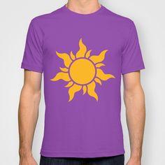 Tangled Rapunzel Sun Logo - Corona Symbol T-shirt