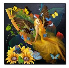 Like a butterfly Butterfly Fairy, Elves, Fairies, Polyvore, Painting, Art, Faeries, Art Background, Painting Art
