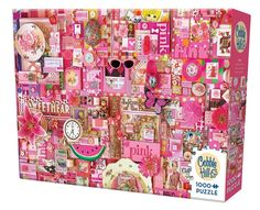 Rainbow Project: Pink - Jigsaw Puzzle by Cobble Hill: IDEA: pick a theme to create collage in art journal 3d Collage, Create Collage, Collages, Color Collage, Times Square, Rainbow Project, Color Puzzle, Puzzle 1000, Rainbow Theme
