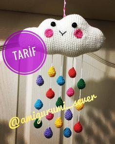 Bulut Kapı with ・・・ Repost ? Amigurumi Toys, Amigurumi Patterns, Crochet Patterns, Crochet Backpack, Cloud Mobile, Instagram Repost, Crochet Toys, Fiber Art, Baby Items