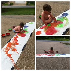 Play Create Explore: Large Scale Fingerpainting