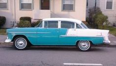 my second car was given to me by my brother when i turned it was a 55 bel-air 4 door. Blue & white, AT 1955 Chevy Bel Air, 1955 Chevrolet, Chevrolet Bel Air, Chevrolet Trucks, Chevrolet Impala, Ford Trucks, 4x4 Trucks, Lifted Trucks, My Dream Car