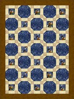Stars through the window quilt pattern