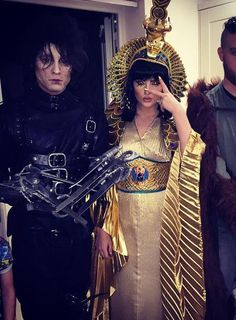 Wow! Zayn as Edward Scissorhands &  Perrie as  Cleopatra:)