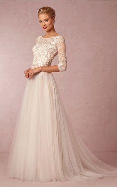 Znalezione obrazy dla zapytania wedding dress lace top tulle skirt