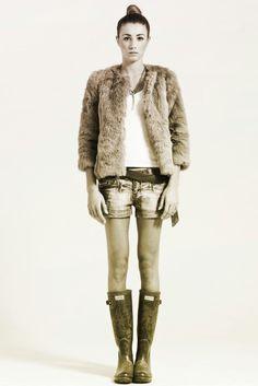 Ph Gennaro Cimmino Model Adele Izzo - fur, shorts, boots -