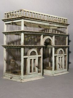 19th Century Architectural Birdcage | From a unique collection of antique and modern bird cages at http://www.1stdibs.com/furniture/more-furniture-collectibles/bird-cages/