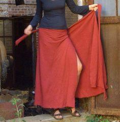 Long Wrap Skirt (hemp/organic cotton knit)