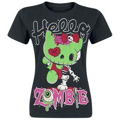 "Cupcake Cult T-Shirt, Women ""Hello Zombie"" black • EMP"