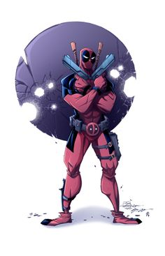 #Deadpool #Fan #Art. (Deadpool) By: Jon Sommariva & Zac Atkinson. (THE * 5 * STÅR * ÅWARD * OF: * AW YEAH, IT'S MAJOR ÅWESOMENESS!!!™)[THANK Ü 4 PINNING!!!<·><]<©>ÅÅÅ+(OB4E)