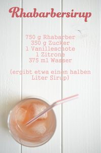 Recipe for rhubarb syrup Rezept für Rhabarbersirup Recipe for rhubarb syrup Vegan Smoothies, Smoothie Drinks, Smoothie Recipes, Summer Drinks, Cocktail Drinks, Cocktail Recipes, Melon Recipes, Rhubarb Recipes, Rhubarb Syrup