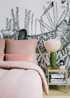 pink and green in the bedroom | a happy chic parisian apartment tour via coco kelley