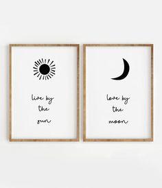Live by the Sun Love by the Moon Print, Inspirational Quote Digital Download Wall Art Modern Prints Motivational Typography  Este es un archivo DIGITAL/S. No se enviará ningún producto físico y el marco no está incluido.  Usted será capaz de descargar archivo de alta calidad sin marcas de agua en: Diy Canvas Art, Diy Wall Art, Diy Art, Do It Yourself Inspiration, Inspiration Wall, Moon Print, Modern Prints, Simple Prints, Printable Wall Art