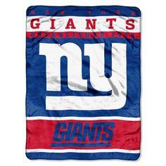 New York Giants NFL Royal Plush Raschel (12th Man Series) (60in x 80in)