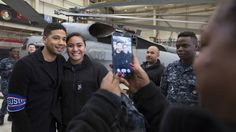 "The three ""Empire"" stars visited hundreds of American service members and military families across Japan on a USO tour."