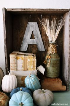 Chalk Painted pumpkins! Doing this soon....