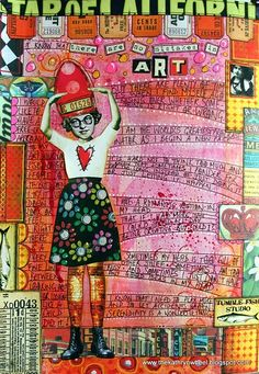 No Mistakes in Art...Kathryn Wheel. I love the pages with journaling on them, too.