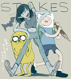 Adventure Time Marceline Abadeer Marcy Vampire Queen Finn Mertens The Human Jake The Dog Stakes Marceline, Adventure Time Stakes, Adventure Time Anime, Time Cartoon, Cartoon Tv Shows, Cartoon Network, Adveture Time, Adventure Time Wallpaper, Land Of Ooo