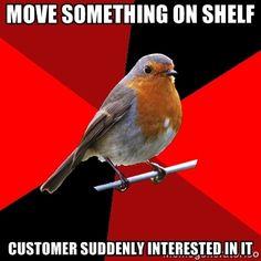 move something on shelf customer suddenly interes…