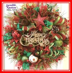 Hey, I found this really awesome Etsy listing at https://www.etsy.com/listing/214366170/christmas-wreath-in-red-and-lime-green