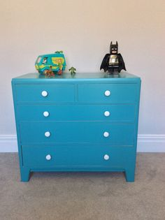 Turquoise Blue Chest Of Drawers For Little Boy S Bedroom Baby Room