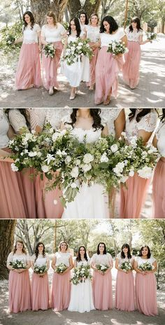 dusty pink tulle bridesmaid dresses from tulle and chantilly #wedding #bridesmaiddress