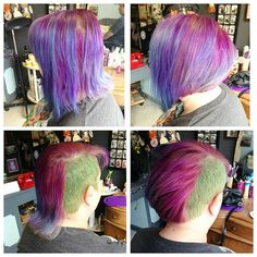 Hair. Your way. Colour not ours. #haircut #eastlondon #rainbowhair #rockalily #hoxton