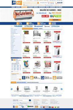 Criação de Interface com usabilidade da loja virtual o E-commerce Atua! Equipamentos no ano de 2012.